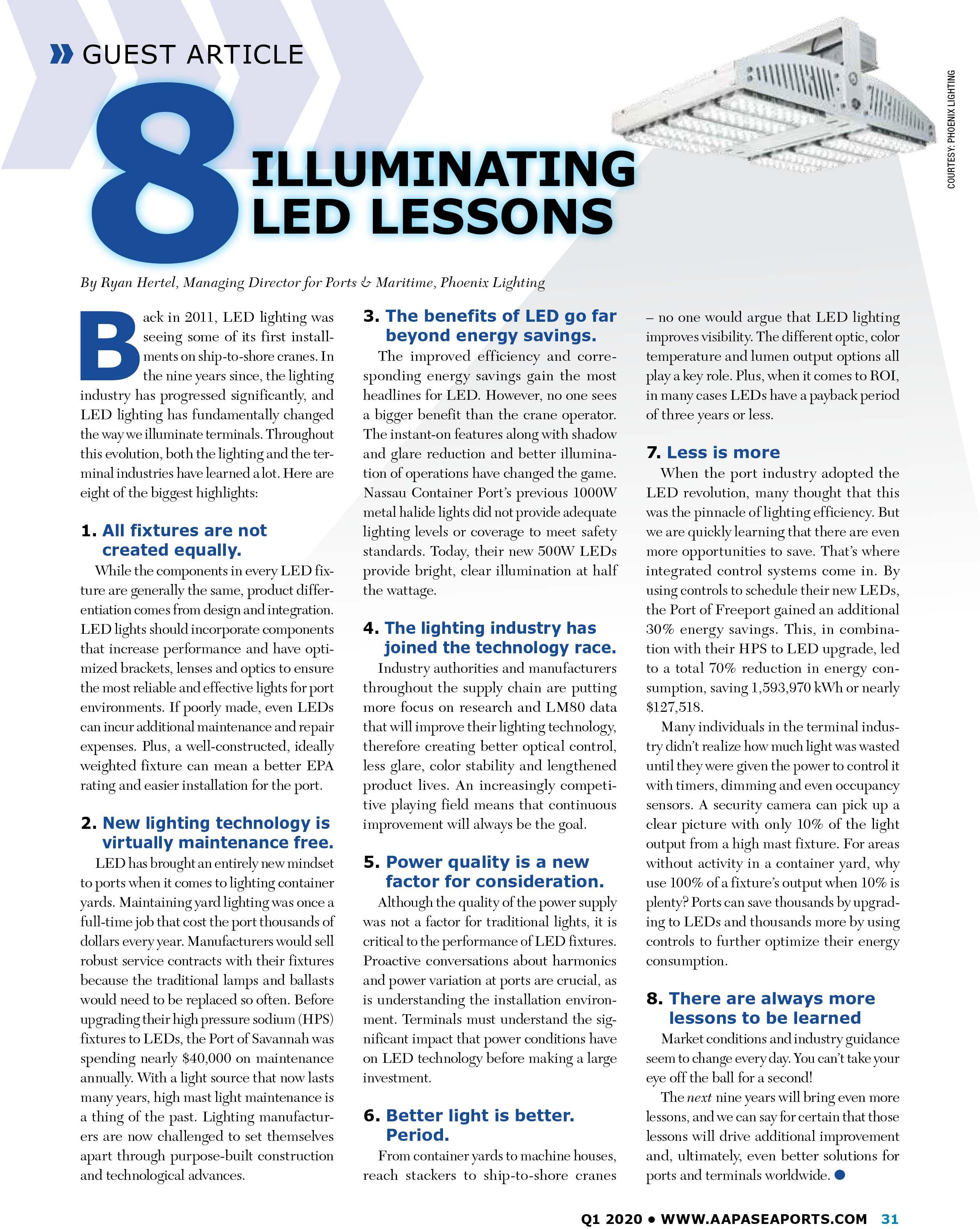 8 Illuminating LED Lessons - Seaports Magazine
