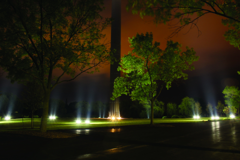 EcoMod fixtures illuminate the ACUITY flagpole