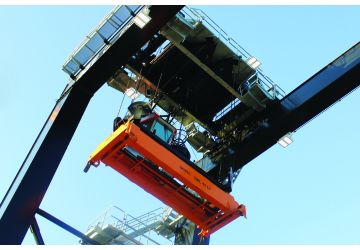 Phoenix ModCom Hi LED Floodlights on a crane