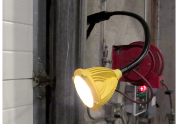 Flex LED docklite® mounted in a manufacturing facility