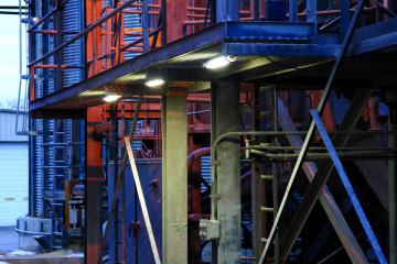 LEDLT LED Tube Light mounted in an industrial environment