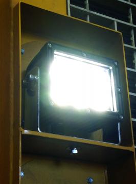 Sturdilite® E90 LED Floodlight lit on a haul truck