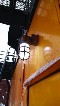 Metallic LED VP Wall Mount on a mine site