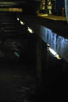 LEDLT LED Tube Light mounted in an industrial environment