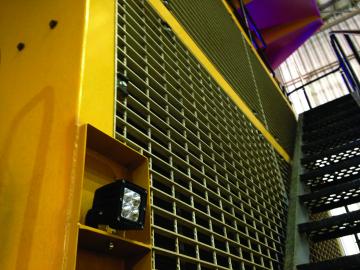 Sturdilite® E36 LED Floodlight mounted on a haul truck
