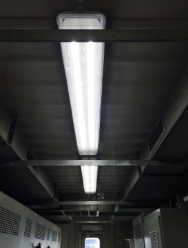 ReadiLED™ 4 foot LED Snaplight® fixtures in an electrical control room