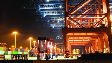 Port Equipment with Signal Lighting