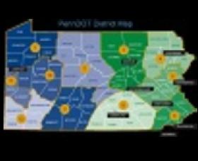 PennDOT district Map